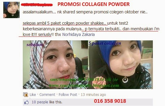 Testimoni Collagen Powder