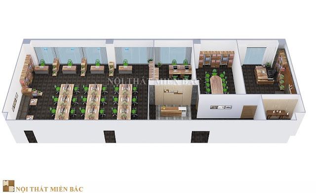 Thiết kế nội thất văn phòng làm việc không gian xanh rất được ưa chuộng không chỉ bởi tạo một không gian ấn tượng