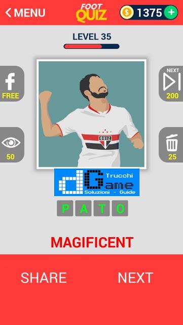FootQuiz Calcio Quiz Football ( ATTO) soluzione livello 31-40