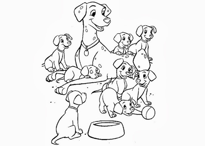 dalmatian puppies coloring pages - photo#40