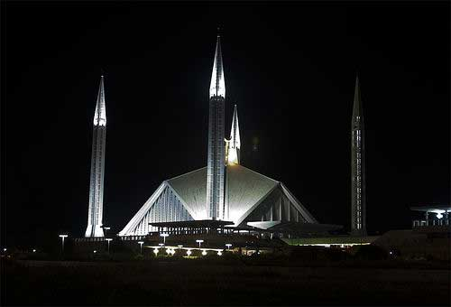 Faisal Masjid In Islamabad | Photograph At Night