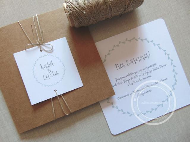 Invitaciones de boda modernas y sencillas en color mint azul de estilo retro con tipografía manuscrita