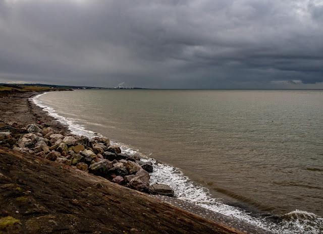 Photo of Maryport shore looking towards Flimby