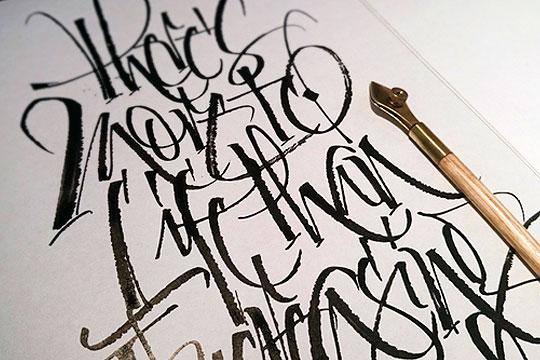 Curso online de Caligrafía y lettering con Mister Kams