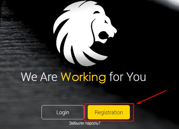 Регистрация в LeoBacker