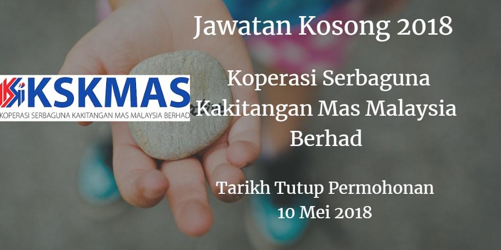 Jawatan Kosong Koperasi Serbaguna Kakitangan Mas Malaysia Berhad 10 Mei 2018