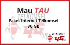 Paket Internet Telkomsel 30 GB Terbaru Berlaku 1 Bulan