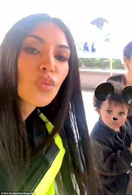 Cute photos of Kim Kardashian and her kids at Disney