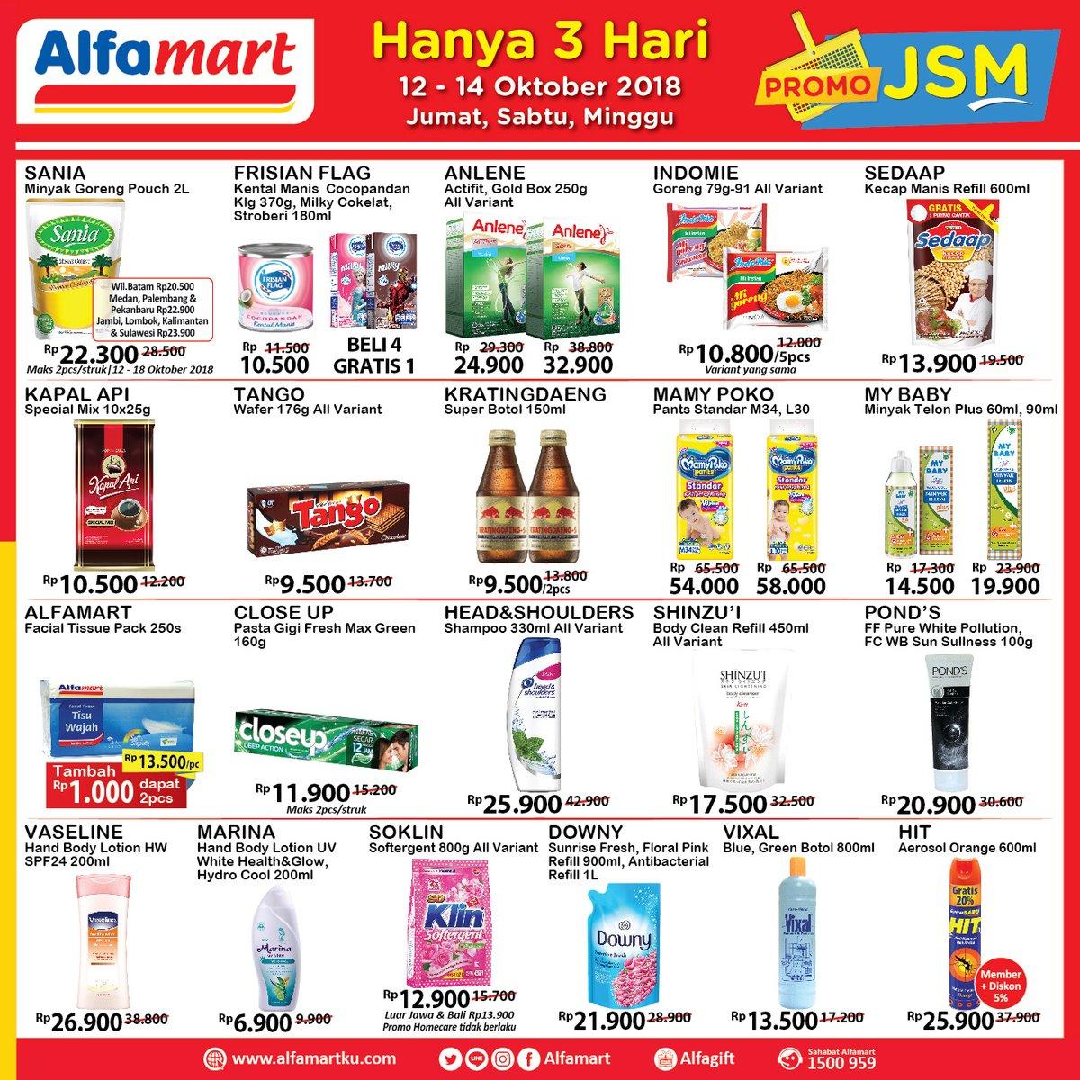 Alfamart - Promo Katalog JSM Periode 12 - 14 Oktober 2018