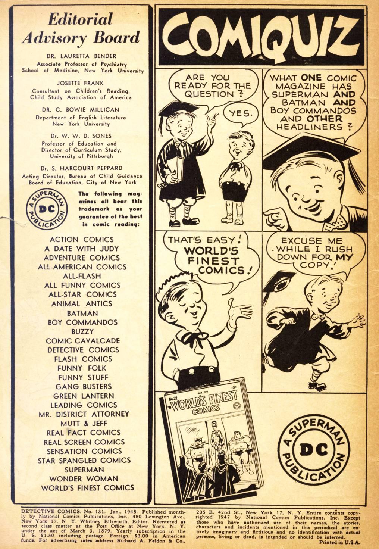Read online Detective Comics (1937) comic -  Issue #131 - 2