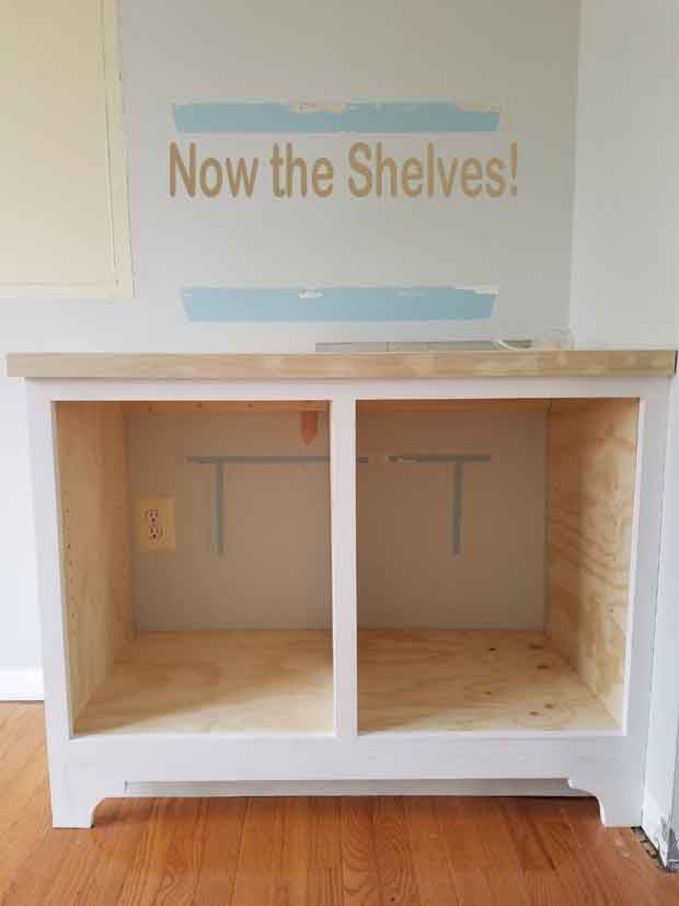 how to make shelves for a built-in