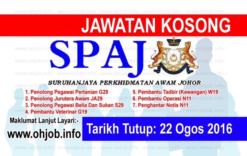 Jawatan Kerja Kosong Suruhanjaya Perkhidmatan Awam Johor (SPAJ) logo www.ohjob.info ogos 2016