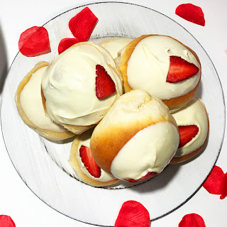 Brioche de Chocolate Blanco con Fresas Thermomix