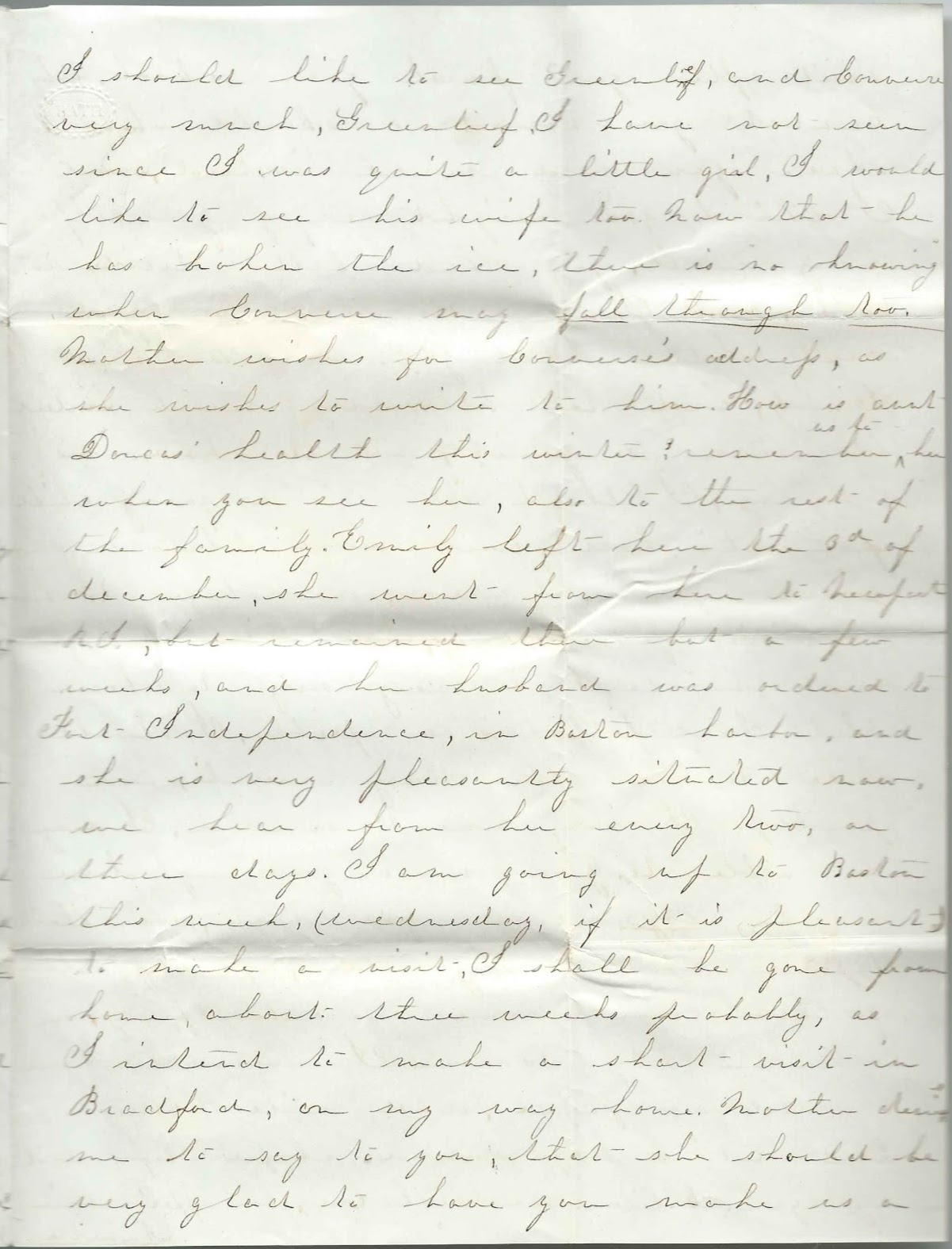 Heirlooms Reunited: 1853 Letter from Annette Maria