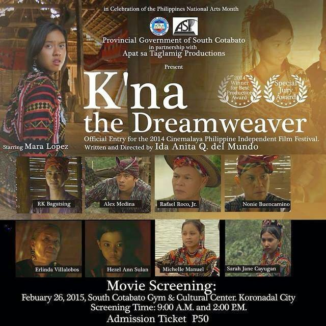 K'na, the Dreamweaver to be shown in Koronadal