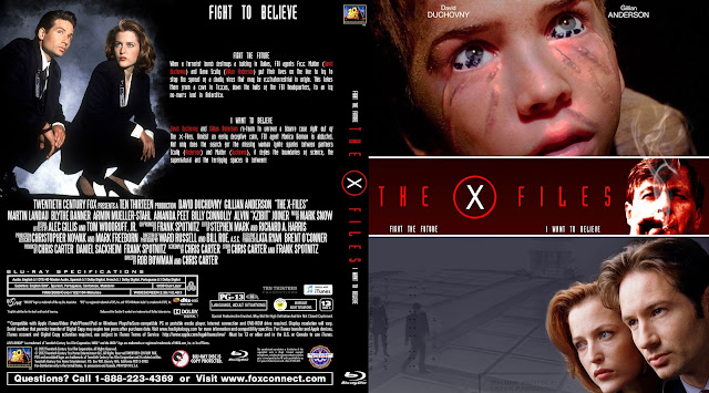 The X Files Double Feature Bluray Cover