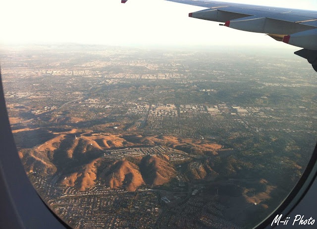 M-ii  Photo : From Paris to LA - vue d'avion Los Angeles Etats-Unis