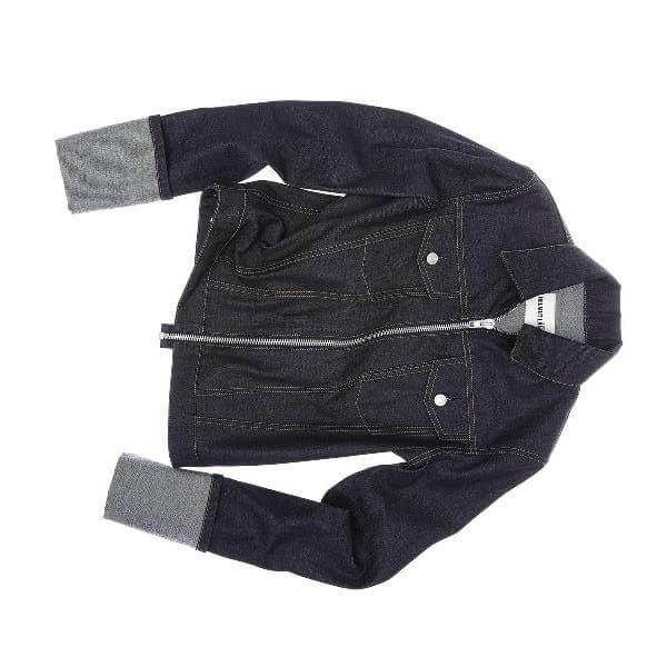 Short Lightweight Denim Jacket with Zipper