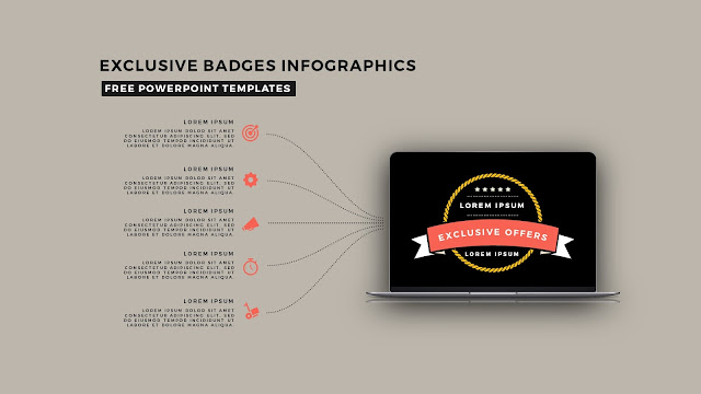 Infographic Badges Free PowerPoint Template for Special Offers Slide 2