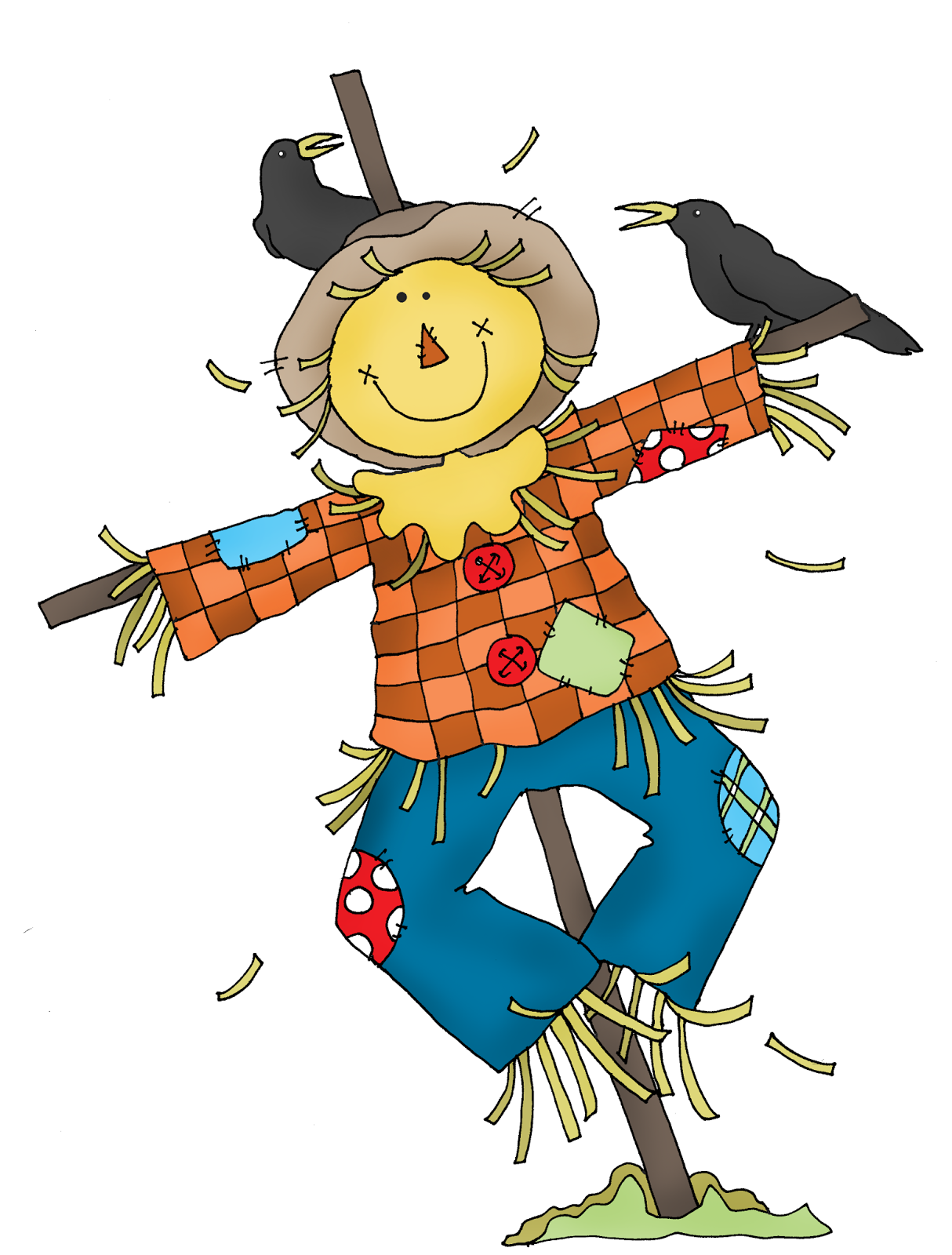 Delicate image with printable scarecrows