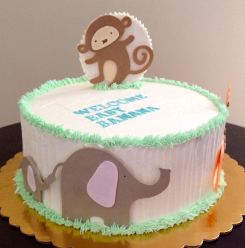 A. Party Style: Modern Animal Baby Shower Cake
