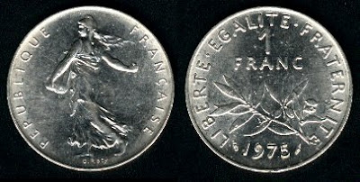 France 1 Franc (1960+) Coin