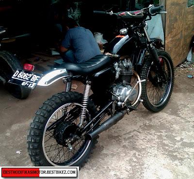 Modifikasi Honda CB 100 Trail