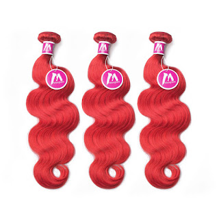 8A Premium Hair Weave Brazilian Hair Bundles Body Wave Red Hair
