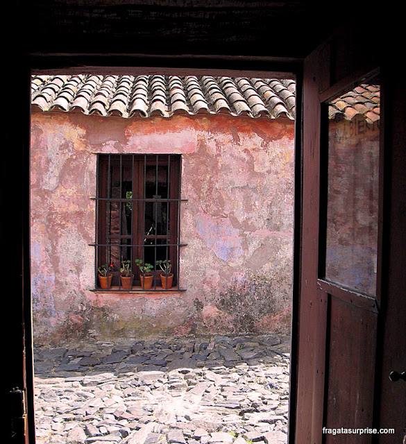 Colonia del Sacramento, Uruguai, casa de colono, Século 18