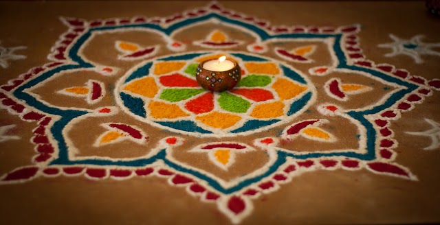 New Latest and Simple Happy Diwali Rangoli Design Images Free Download for Diwali 2020