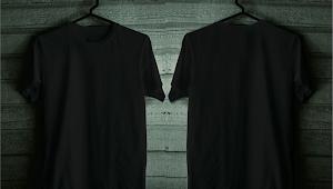 Kaos polos Hitam dan Putih Bolak Balik