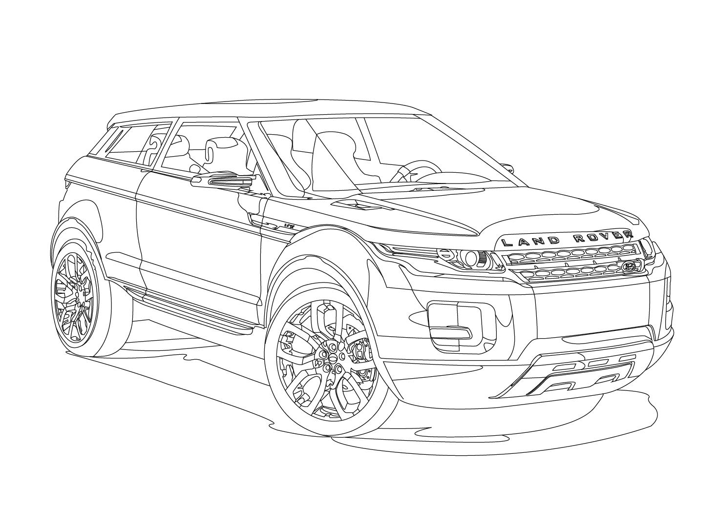 Transportes Para Colorear Land Rover Sketch Coloring Page
