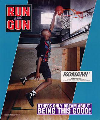 Run & Gun+arcade+game+portable+art+flyer+NBA games