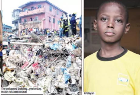 boy rescued alive lagos building
