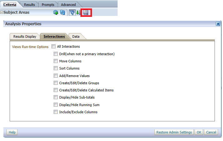 OBIEE REVISITED: 11g Removing the Gray Header from Reports