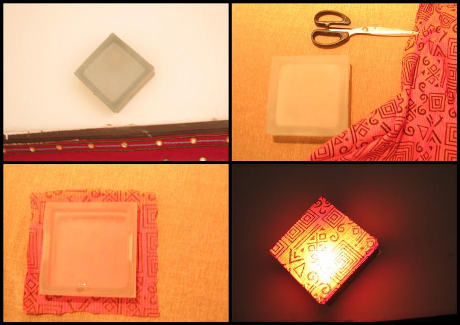 DIY Lamp Shade Wall Lap Using Fabric