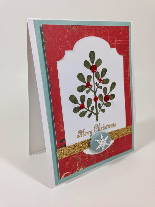 Close To My Heart Artfully Sent Cricut cartridge Christmas card sideview