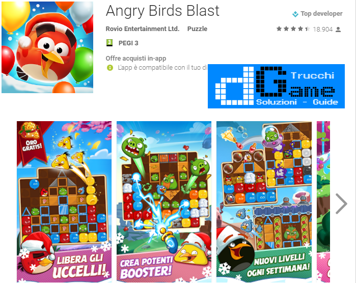 Soluzioni Angry Birds Blast  di tutti i livelli | Walkthrough guide