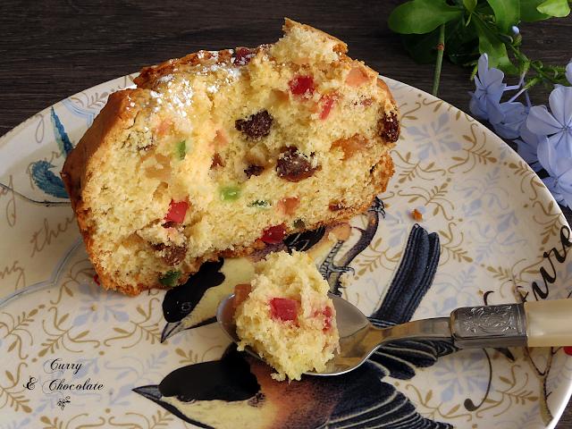 Plum cake de fruta confitadas y pasas con ron – Candied fruits cake