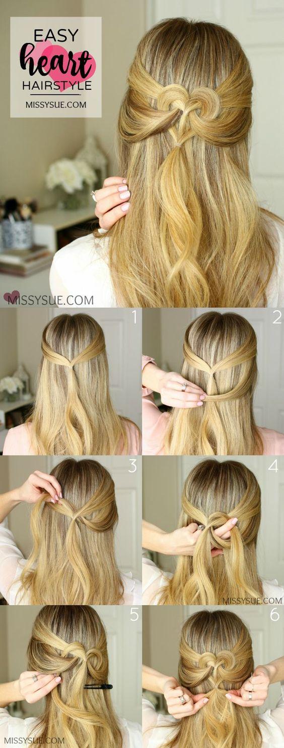 heart hairstyle idea