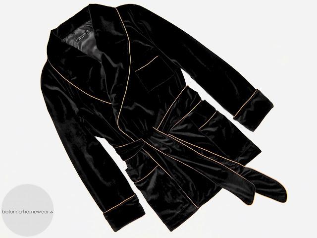 gentleman smoking jacket mens black velvet lounging robe english vintage dressing gown