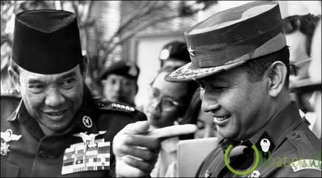 Soeharto menikam bung karno dari belakang