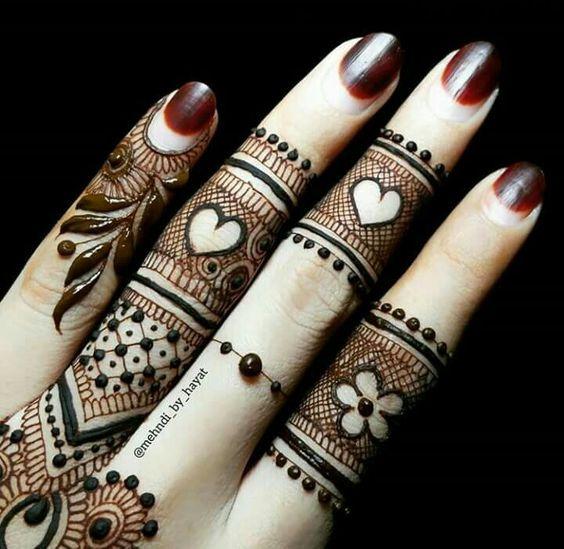 new finger mehndi design latest