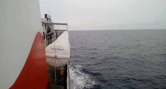 KMP. Bontoharu ,Tes Kecepatan Di Selat Selayar