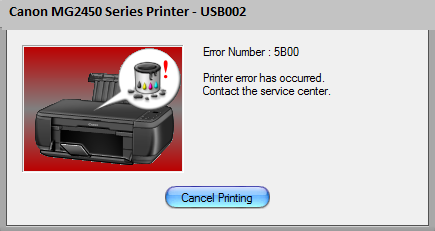 Canon MG2450 Error 5B00