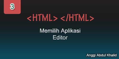Memilih aplikasi editor