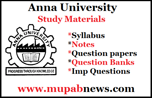 ME8351 Manufacturing Technology - I Syllabus (TPDE) is available in pdf format. In Mupabnews.com, Anna University 3rd Semester Engineering Students can also download ME8351 (M3) Syllabus, Notes, Question Banks, Previous year Question Papers and Important Questions regulation 2017