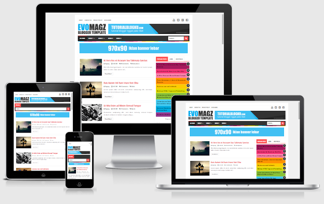 Evo Magz V5.0 Template Free Responsive Blogger