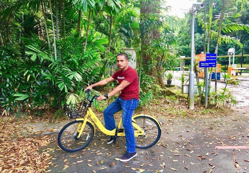 Cara sewa Naik Sepeda Berkeliling di Singapura, cara rental sepeda di Singapura, ofo bike,