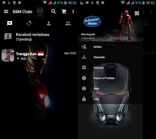 BBM Mod Iron Man v2.13.1.14 Apk Clone Terbaru